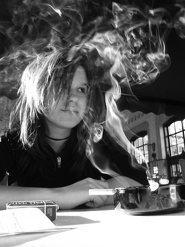 smoking teenager flickr image