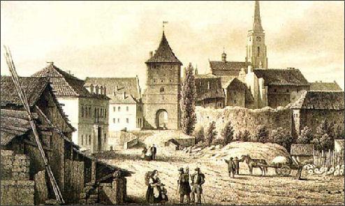 plzen in 1843 / google image