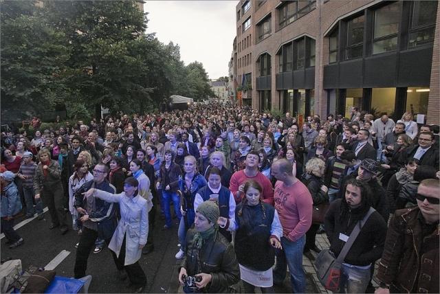 Brussels EU street party