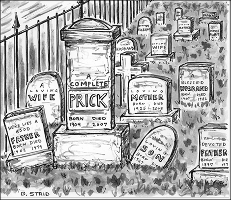 funeral google cartoon image