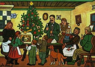 Josef Lada Christmas tree image
