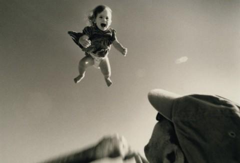 flying baby google image
