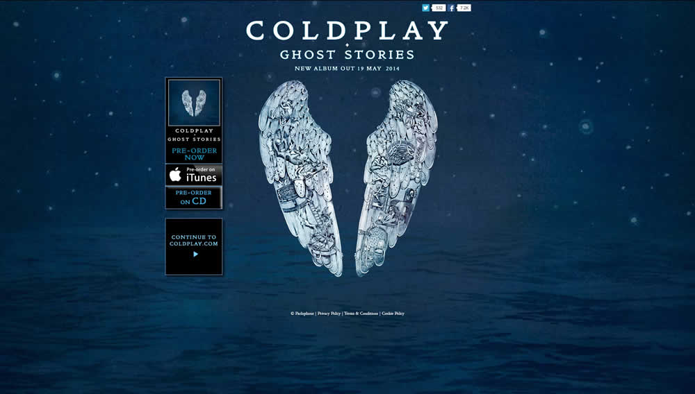 Coldplay ghost stories album cover/ google.com